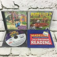 Kids Educational PC Software Games CD-ROMs Lot Of 4 Puppy Luv Madeline Preschool