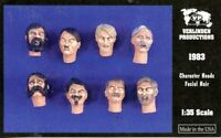 Verlinden Productions 1:35 Character Heads w/ Facial Hair - 8 Resin Detail #1983
