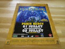 IRON MAIDEN - Publicité de magazine / Advert CONCERT PARIS BERCY !!!