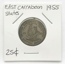 1955 East Caribbean States 25 Cents