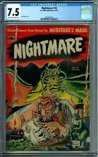 NIGHTMARE 10 CGC 7.5 KUBERT COVER ST JOHN PUB GOLDEN AGE PRE-CODE HORROR 1953