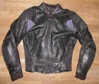 """"""" Gensler """" Men's Motorcycle - Combination Leather Jacket/Biker Jacket IN Black"""