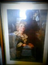 Bild Druck junger Mann 80 x 59 i 69x48,5 cm antik Rarität Vintage Deko Unikat