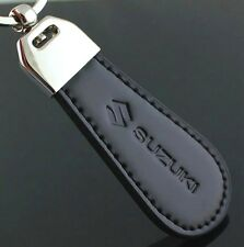 Black PU Leather Drop Keyring For Suzuki Car Logo Key Ring Keychain Gift