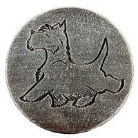 """Scottie dog mold  plastic plaque mold concrete plaster animal mould 7.75"""" x 3/4"""""""