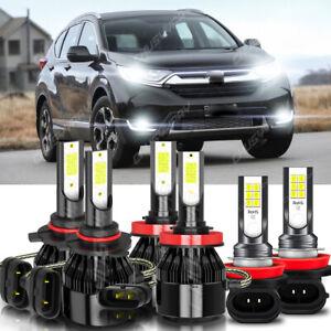 For Honda CR-V 2014-2017 Combo Led Headlight Kit High Low Beam Fog Light Bulbs