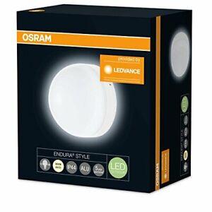 Osram LED Wandleuchte Außenleuchte Endura Style Ball Warmweiß 12 Watt Ø17cm