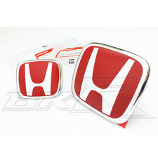 Honda Accord red H front rear emblem badge  grill CL7 CL9 EURO 02-07
