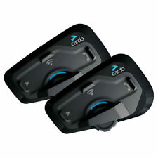 Cardo FREECOM 4+ Set di 2 Sistema di Comunicazione Bluetooth Moto a 4 Vie con Funzionamento Natural Voice - Nero