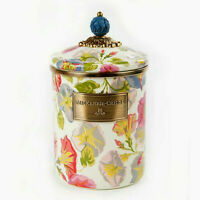 Authentic Mackenzie-Childs Morning Glory Canister - Medium - NEW!