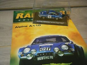 IXO DEAGOSTINI RALLY CAR ALPINE RENAULT A110 1/43  SCALE CAR+MAGAZINE ISSUE 47
