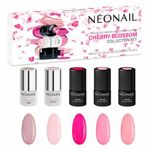 NEONAIL Cherry Blossom Set 5x Nagellack 3ml Beige, Pink, Rosa TOP Geschenkbox