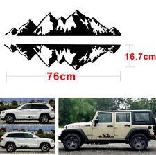 2Pcs Mountain Range Sticker DIY Decoration Vinyl Decals Waterproof For Jeep SUV