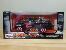 Maisto H-D Custom Harley Davidson 1948 Ford F1 Pickup And Ford FL Panhead 1:24