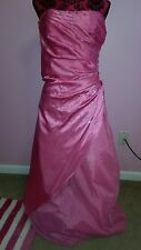 New Debs Pink & Sequin Bodice Full Length Dress Sz.5/6(Prom, Homecoming, Quince)