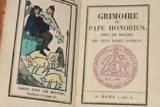 [BLOCQUEL] Grimoire du Pape Honorius, Rome, 1760, [Lille, c.1840]