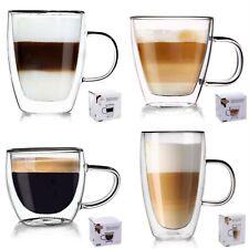 Double Walled Coffee Glasses 430 300 180ml Double Walled Glass Mug  Espresso Set