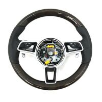 Porsche 991 971 Panamera 95B Macan 958 Cayenne Bois Flappy Pagaie Direction Roue