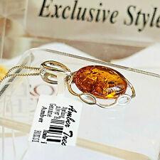 100% Genuine Russian Baltic Amber Necklace Butterscotch Egg Yolk Polish Vintage