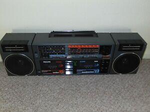 Vintage/Retro BOOMBOX GHETTO BLASTER Philips D8458/05 Restored.