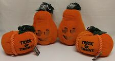 Lot of 4x Bootique Gourdy Plush & Pumpkin Treat Plush Dog Toy