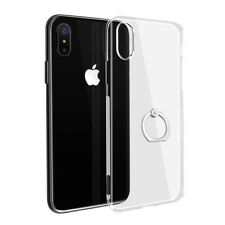 iPhone X Transparent Case - Clear Flexible Cover with 360° Ring Finger Holder