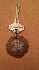 VINTAGE CAESARS PALACE HOTEL KEY WITH FOB FREE SHIPPING