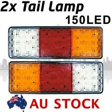 2X 12V DC 75 LED Tail light STOP TAIL Single LIGHTS WITH REVERSE Truck AU STOCK