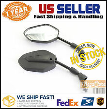 Suzuki GN125 250 400 VS700 750 800 1400 1500 VZ800 1600 RMX250 Mirrors BLACK