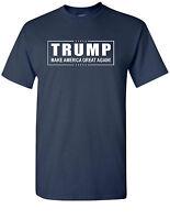 Donald TRUMP President T Shirt Make America Great Again! Official Logo Navy