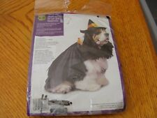 PET WITCH COSTUME ONE SIZE FITS MOST HAT & CAPE