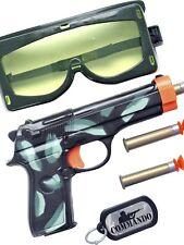 Boys Girls Military Army Soldier Swat FBI Fancy Dress Toy Accessory Weapon Kit