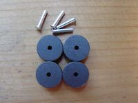 LIONEL 4 v 45 CARBON ROLLERS & 4 RIVETS for ZW & KW transformers High Copper