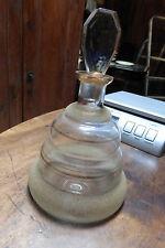 ancienne carafe à décanter en verre granité à fond plat années 50/60