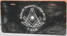 Past Master Masonic license plate Black aluminum auto tag custom personalized