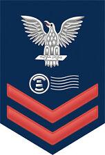 """Postal Clerk ( PC ) 2nd Class E-5 Red Rank 5.5"""" Sticker / Decal"""