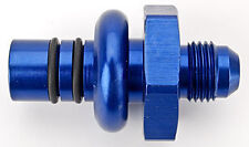 RUS-640900 Ford EFI -6 AN Male Pressure Side Fuel Rail Fitting Blue Russell