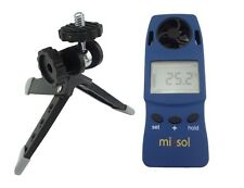 10 UNITS of Handheld Anemometer with Tripod, wind speed wind chill thermometer