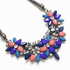 Wearyourfashion Luxurious Multi Color and Crystal Fashion Choker Necklace