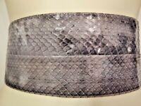 Nos Vintage AbbE Genuine Snake Skin Belt Gray Wide Waist Cinch Boho Disco Grey S