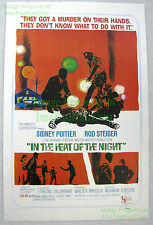 80s Vintage In Heat of the Night ☆ Sidney Poitier Rod Steiger Lobby Card Poster
