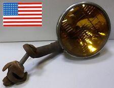 Rare phare 130mn GENERAL ELECTRIC FOG USA sur patte POMPIER MILITARY AMBULANCE