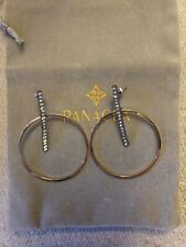 Panacea hematite bar hoop earrings gold one size