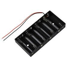 Plastic 8 X 1.5V AA 2A CELL Battery Holder Storage Box standard 12V Case New