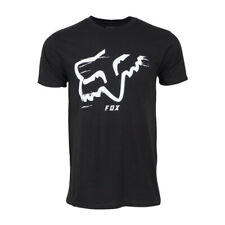 FOX RACING MENS BLACK WITH WHITE LOGO TSHIRT PREMIUM