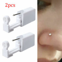 2X Disposable Safe Sterile Piercing Unit Nose Studs Stud Earrings Piercing Tool