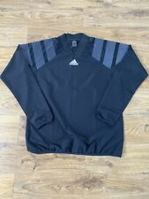 Men's Black adidas Retro Style Football Long Sleeve Training Top, Large