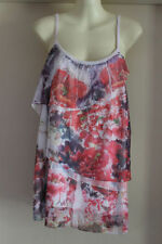Spaghetti Strap Sleeve City Chic Casual Floral Tops & Blouses for Women
