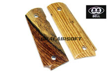 BELL Wood Pistol Grip Cover For 1911 CO2 Airsoft (Yellow Rosewood) BELL-23YCO2
