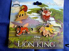 Disney * LION KING * NEW STYLE on Card 4 Pin BOOSTER Set - Simba Nala Scar etc.